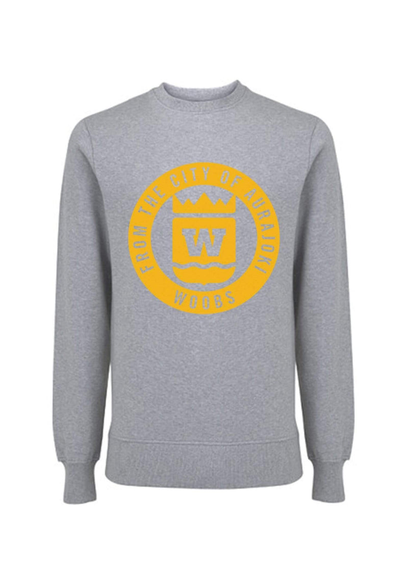 From The City Of Aurajoki, Symbol, Sweatshirt, Gray
