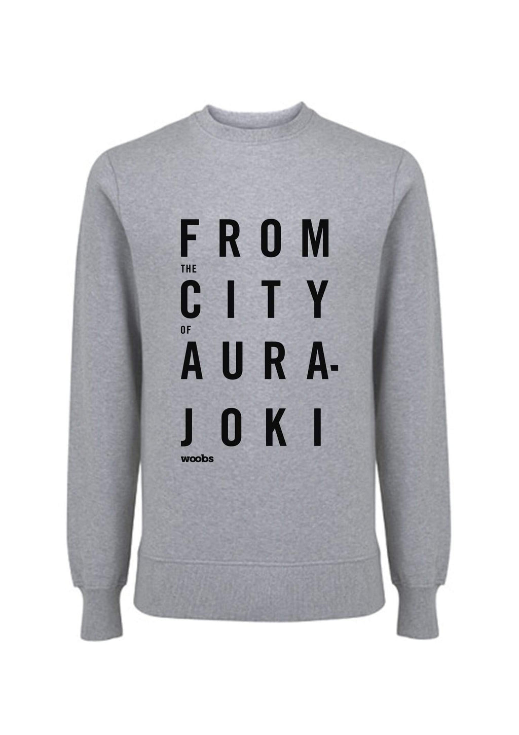 From The City Of Aurajoki, Lyric, Sweatshirt, Gray