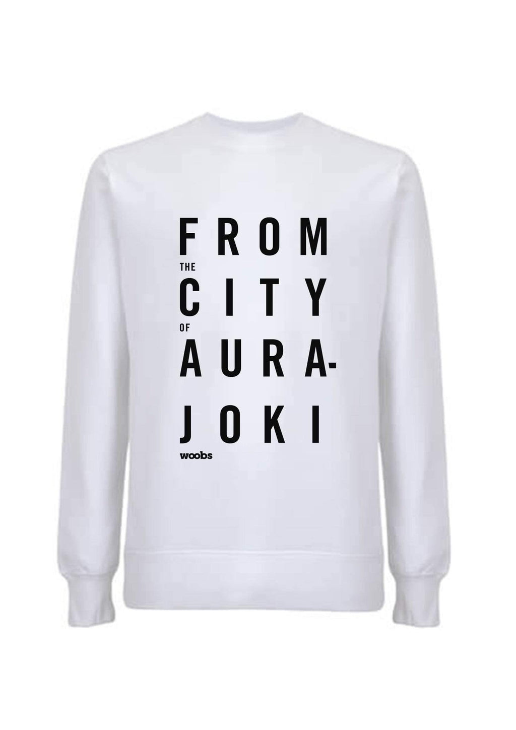 From The City Of Aurajoki, Lyric, Sweatshirt, White