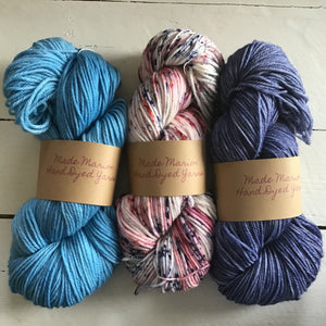Made Marion Hand Dyed Sock Yarn