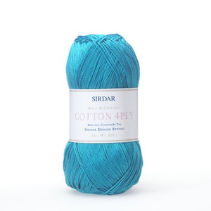 Sirdar Cotton 4 ply Fingering Yarn
