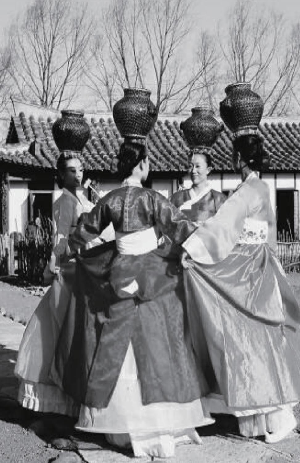 Historic Korean women dancing to celebrate, illustrating OMM's long standing history.