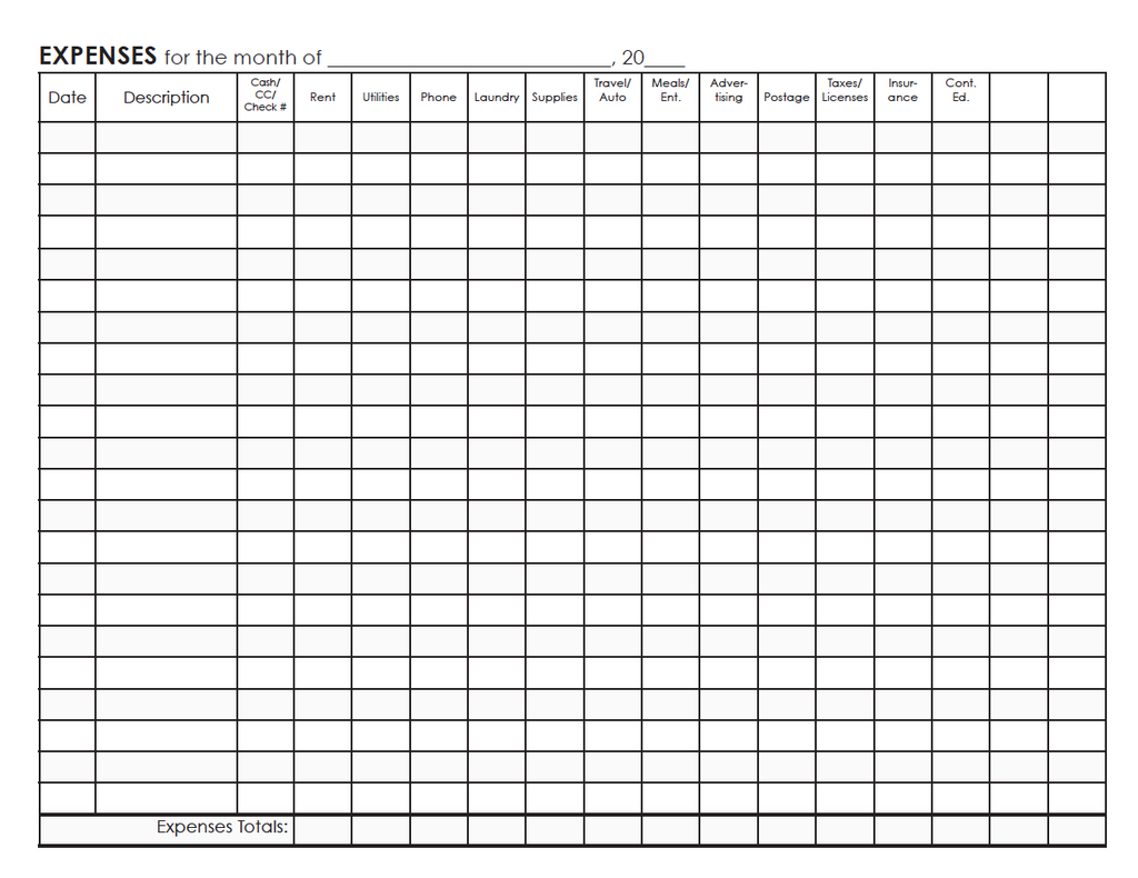 bookkeeping ledger