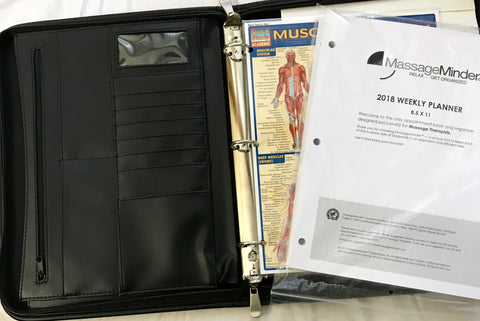 2018-The Portfolio 55, 3-Ring-Zipper Binder Appointment Book (Paper 8.5x11-Binder 13.5x11)