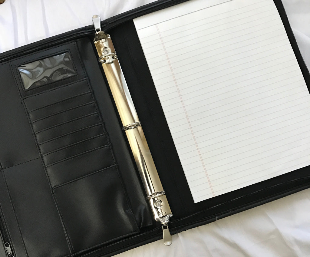 2020-The Portfolio 3-Ring-Zipper Binder Appointment Book
