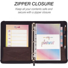 Load image into Gallery viewer, 2021 Mini Zipper 3-Ring Binder Appointment Book (Paper size 5.5x8.5)