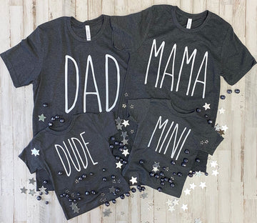 Dad & Mama Adult Family Tee's