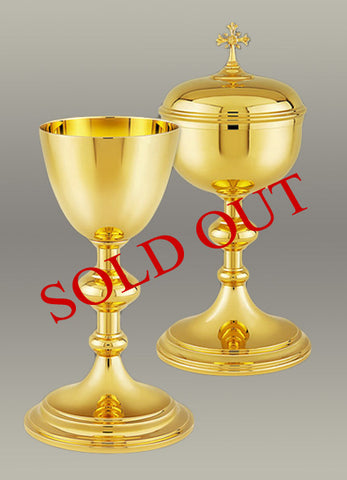 Chalice and Paten #10-003  Matching Ciboria  #10-202 $1,195