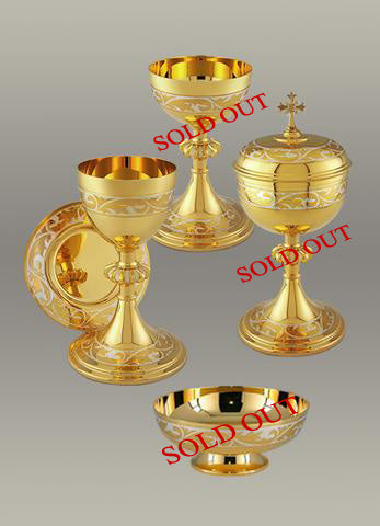 Chalice & Paten $1,650 and Ciborium  $1,650
