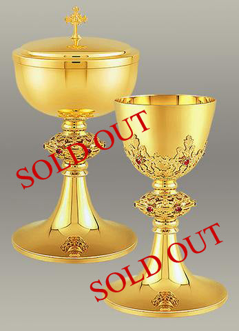Chalice and Paten  #10-014   $1,195   Matching Ciborium #10-218  $1,195