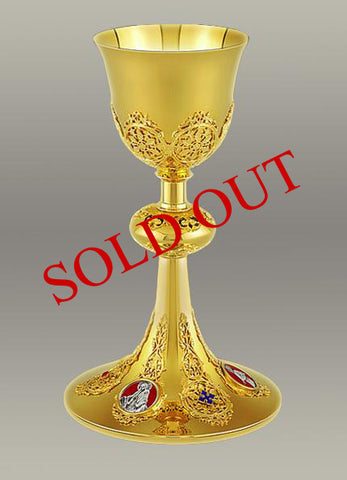 The Holy Family Chalice and Paten #10-017  Matching Ciborium #10-3017