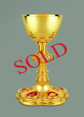 Neo-Gothic Chalice and Paten  #10-12610