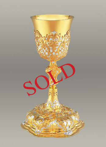 15th Century Baroque Chalice and Paten #10-15510   (Sold)