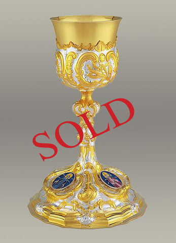 17th Century Baroque Chalice and Paten  #10-15610