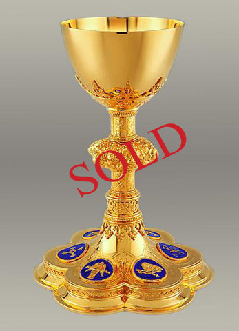 Neo-Gothic Chalice and Paten #10-16610