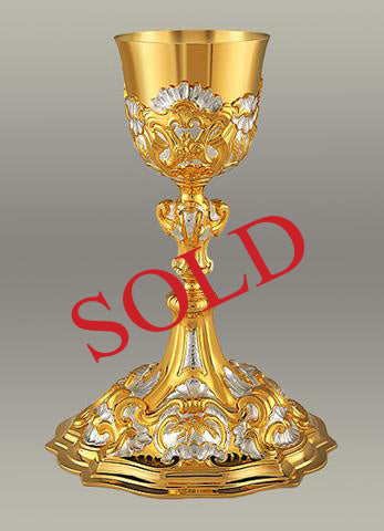 17th Century Baroque Chalice and Paten #10-19010