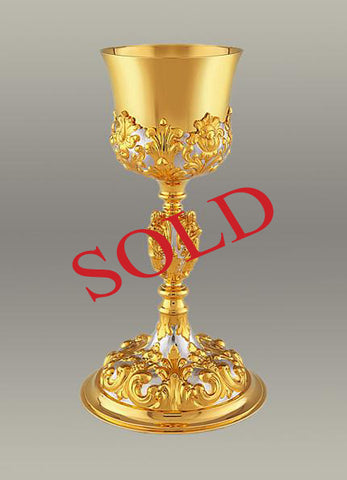 17th Century Baroque Chalice and Paten #10-19110