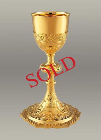 Traditional Chalice and Paten #10-19210    (Sold)