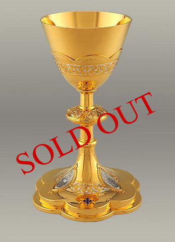 Jesus, Mary, and Joseph Chalice and Paten #10-19610    (SOLD OUT)