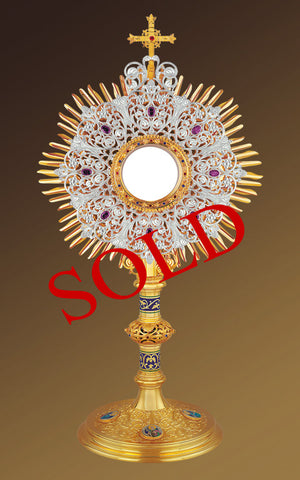 Roman Monstrance of The Holy Family, St. John and the Evangelists #10-450SP