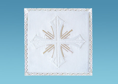 White Cross with Silver Rays Pall #10-719