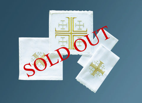 The Jerusalem Cross Mass Linen Set #10-722