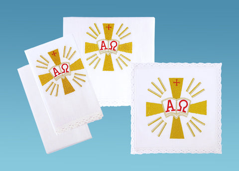 Alpha/Omega Sacramental Linen Set #10-724