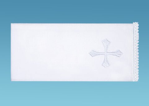 Lavabo Towel with White Embroidered Cross #10-733
