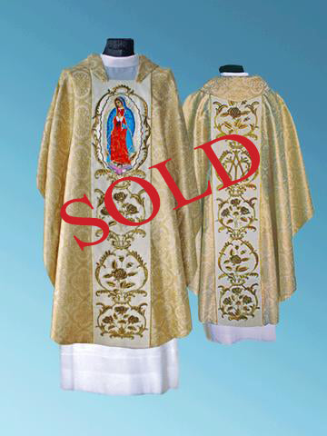 Our Lady of  Guadalupe . . Hand-Embroidered Chasuble #11-013OLG