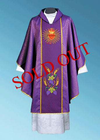 The Sacred Heart  Chasuble #11-103P