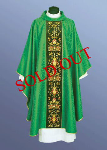 Traditional Chasuble with the Chi/Rho Symbol (Available in 5 Colors) #11-276