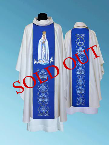 Our Lady of Fatima Chasuble #11-337OLF  (sold out)