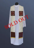 The Notre Dame Overlay Stole #11-451S (Available in 5 colors)  (Sold out)