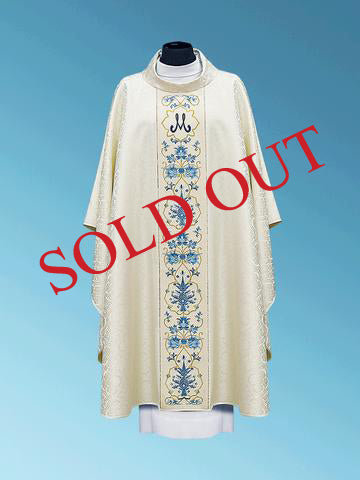 Traditional Marian Chasuble #11-480M
