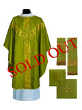 Traditional Chi/Rho Semi-Gothic Chasuble #11-706  (Available in 5 Colors)