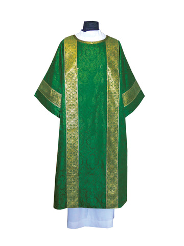 Traditional Semi-Gothic Dalmatic #11-707 (Available in 7 Colors)