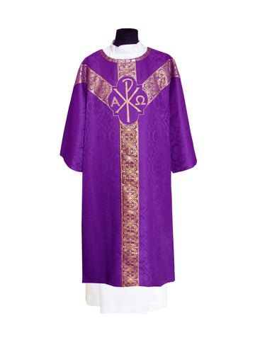 Traditional Semi-Gothic Dalmatic #11-708  (Available in 4 Colors)