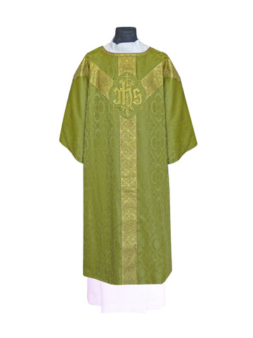 Traditional Semi-Gothic Dalmatic #11-709  (Available in 5 Colors)