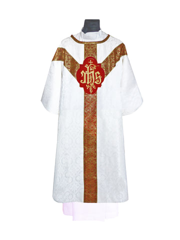 Traditional Semi-Gothic Dalmatic #11-709  (Available in 5 Colors) OUT OF STOCK!