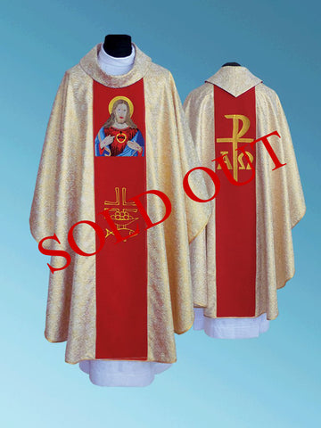 The Sacred Heart of Jesus Chasuble #11-726SHJ (1 left)