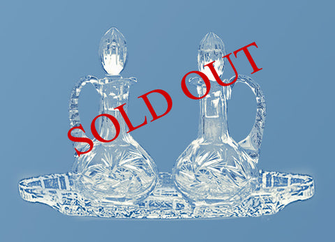 Crystal Cruet #562 (tray sold separately)
