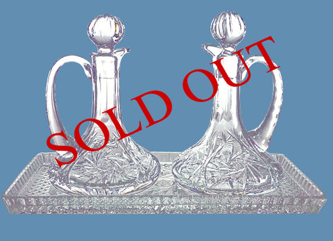 Crystal Cruet #563 - $225  (sold out)   Crystal Tray #523 - $75 (available)
