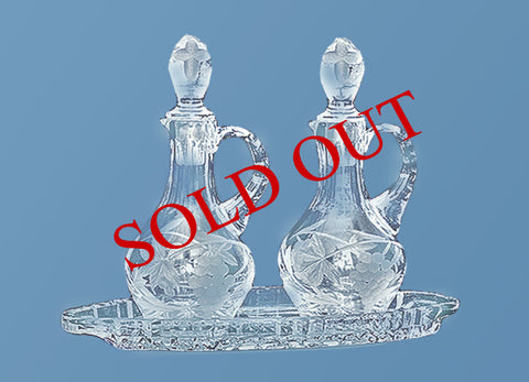 Crystal Cruet #566 (tray sold separately)