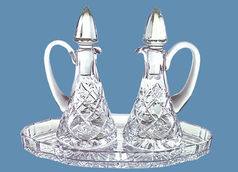 Crystal Cruet #568 - $150   Crystal Tray #524 - $75 (Tray Sold Out)