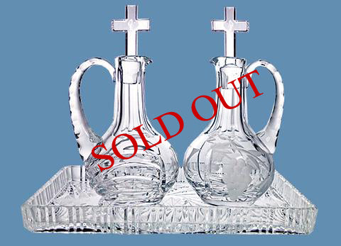 Crystal Cruet #572 - $150   (sold out)   Crystal Tray #522 - $65 (sold out)