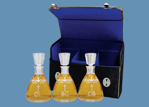 The Holy Spirit Chrismatory Set with Case #578