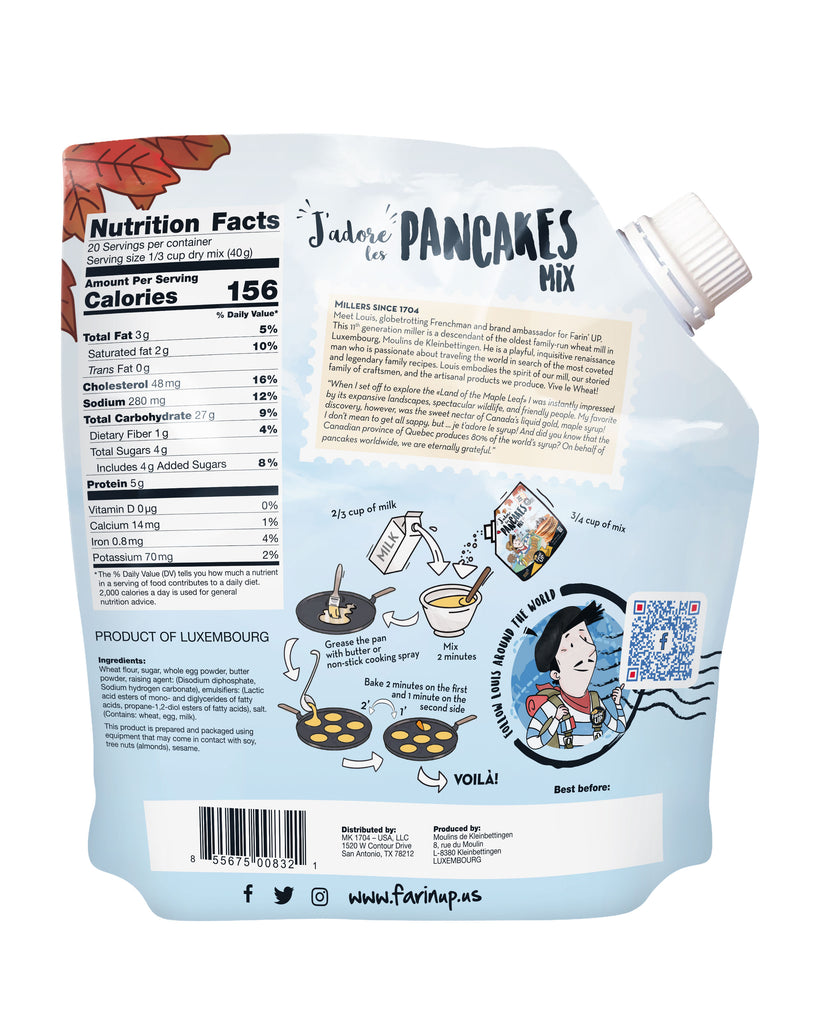J'adore les Pancakes Mix - Farin'UP USA