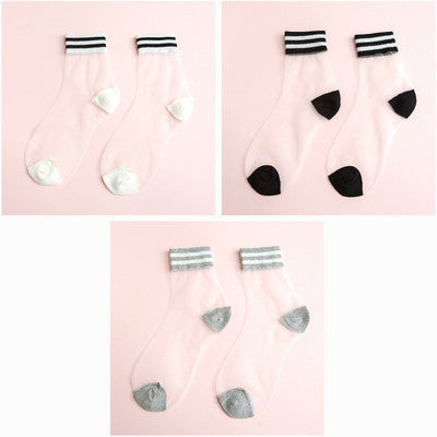 Fashion transparent socks yc23085