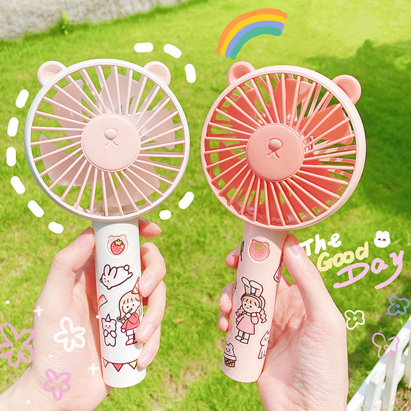Cute style summer portable bear fan yc23289