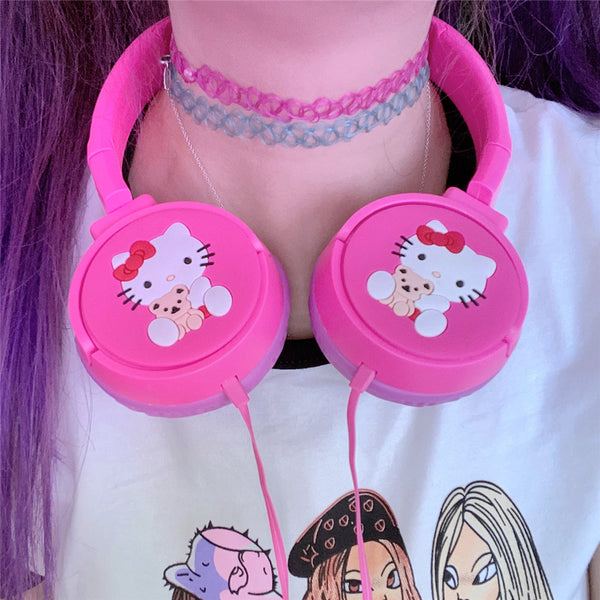 HelloKitty pink headphones yc23854